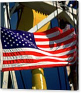 Tribute To The American Flag Oil Industry Acrylic Print