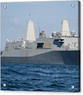 The Amphibious Transport Dock Ship Uss Acrylic Print