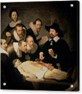 The Anatomy Lesson Of Doctor Nicolaes Tulp Acrylic Print