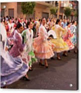 The Andalusian Fair, A Party In The Streets Acrylic Print