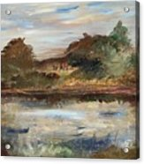 The Angels Camp Frog Pond Acrylic Print