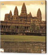 The Angkor Wat Temples In Siem Reap Acrylic Print