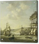 The Anglo Dutch Fleet In The Bay Of Algier Acrylic Print