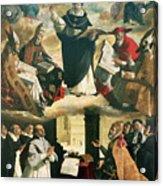 The Apotheosis Of Saint Thomas Aquinas Acrylic Print by Francisco de Zurbaran