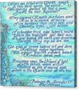 The Aquarian Philosophy Acrylic Print