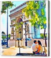 The Arc De Triomphe Paris Acrylic Print