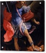 The Archangel Michael Defeating Satan 1635 Acrylic Print