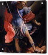 The Archangel Michael Defeating Satan Acrylic Print