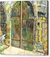 The Archways Of Bandouille 12th Century Monastery Sevres France Acrylic Print