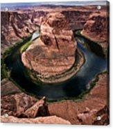 The Arizona Horsehoe Bend Of Colorado River Acrylic Print by Ryan Kelly