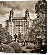 The Arlington Hotel - Hot Springs Arkansas - Sepia Acrylic Print