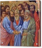 The Arrival Of The Apostles To The Virgin Fragment 1311 Acrylic Print