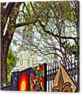 The Art Of Jackson Square Acrylic Print