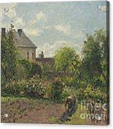 The Artist's Garden At Eragny Acrylic Print