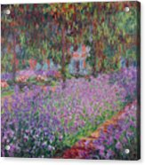 The Artists Garden At Giverny Acrylic Print