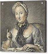 The Artist's Wife With A Book Acrylic Print