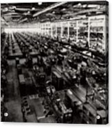 The Assembly Plant Of The Bell Aircraft Corporation In 1944 Acrylic Print