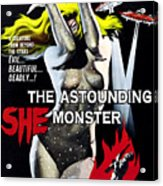 The Astounding She-monster, 1-sheet Acrylic Print by Everett