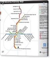 The Atlanta Pubway Map Acrylic Print