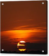 The August Sunset Acrylic Print by Rebecca Cearley