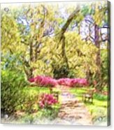 The Azalea Garden Acrylic Print