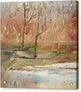 The Back Field Creek Acrylic Print