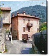 The Back Street Towards Home Acrylic Print