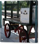 The Baggage Cart And Truck Acrylic Print