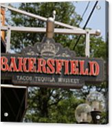 The Bakersfield Sign Acrylic Print