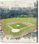 The Ballpark Acrylic Print by Ricky Barnard