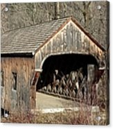 The Baltimore Covered Bridge - Springfield Vermont Usa Acrylic Print