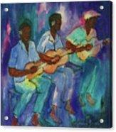 The Band Boys Acrylic Print by Karen Bower