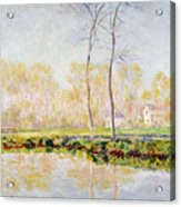 The Banks Of The River Epte At Giverny Acrylic Print