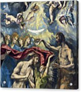 The Baptism Of Christ Acrylic Print
