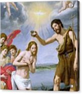 The Baptism Of Christ Acrylic Print by Ottavio Vannini