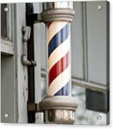 The Barber Shop 4 Acrylic Print by Angelina Vick