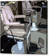 The Barber's Chairs Acrylic Print