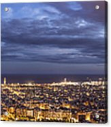 The Barcelona City Skyline, Spain Acrylic Print