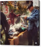 The Bargaining Table - Street Vendors Of New York Acrylic Print