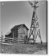 The Barn And Windmill Acrylic Print