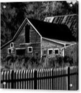 The Barn Bw  Acrylic Print