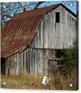 The Barn By The Road Acrylic Print