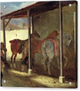 The Barn Of Marechal-ferrant Acrylic Print by Theodore Gericault