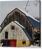 The Barn With A Red Door Acrylic Print
