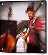 The Bass Player Acrylic Print