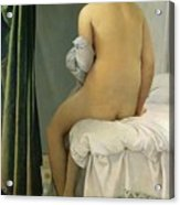 The Bather Acrylic Print by Jean Auguste Dominique Ingres