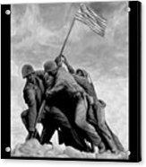 The Battle For Iwo Jima By Todd Krasovetz Acrylic Print