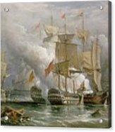 The Battle Of Cape St Vincent Acrylic Print by Richard Bridges Beechey