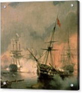 The Battle Of Navarino Acrylic Print