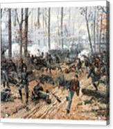The Battle Of Shiloh Acrylic Print